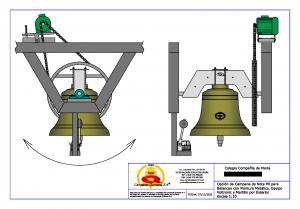 Vistas de campana para repique y balanceo automáticos sobre estructura metálica