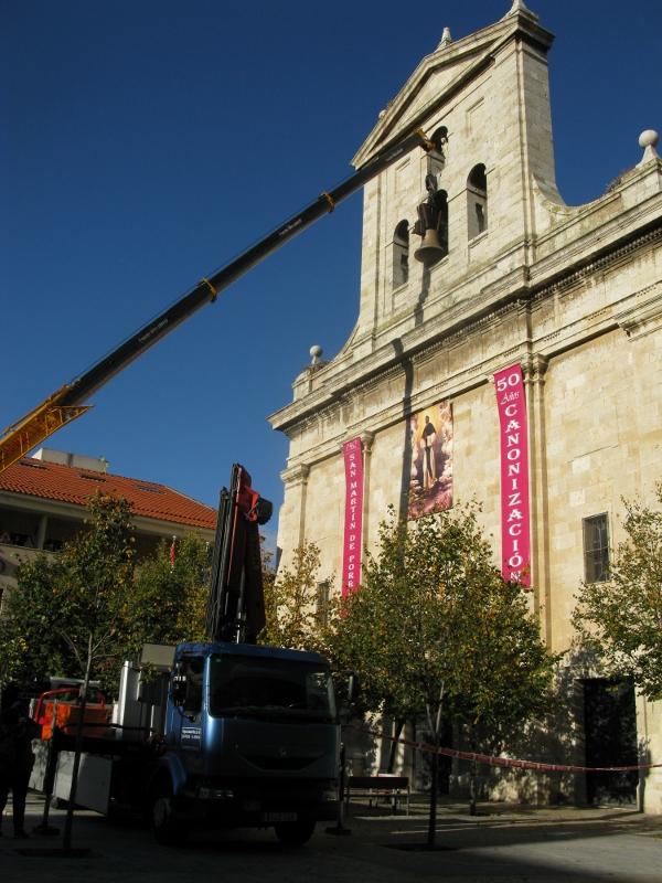 Montaje San Pablo - Izado de Campana Mayor